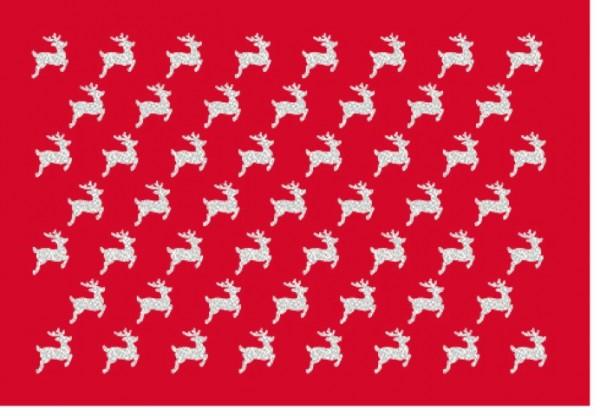 Umschlagk. Rudolph rot silber