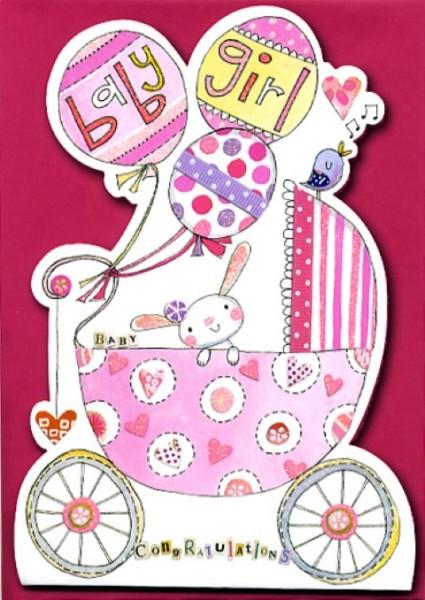 Umschlagk. 3D Baby rosa