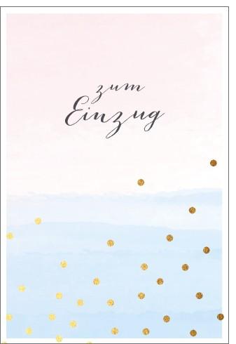 Umschlagk. pc Einzug rosa/blau mit Dots
