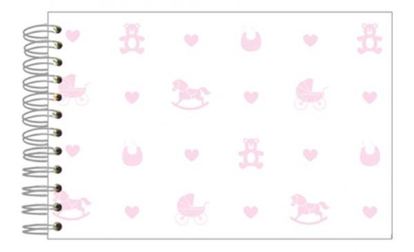 Fotoalbum 13x18 Baby Icons rosa