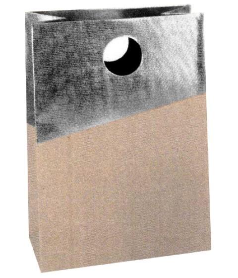 Glam Bag silber 22x15x8