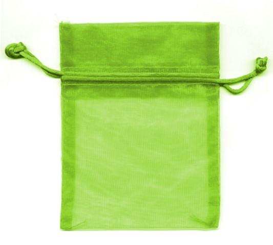 Organza Bag lime 12x9