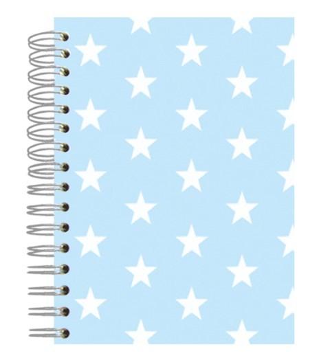 Buch A5 Lightblue Stars