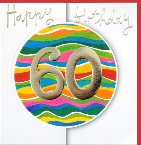 Umschlagk. Happy Birthday 60