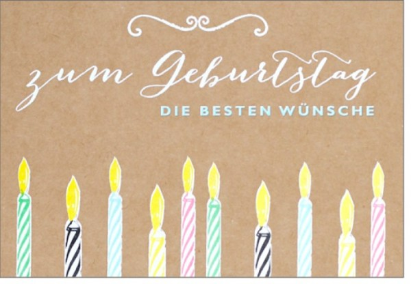 Umschlagk. pp Wünsch dir was Geburtstag