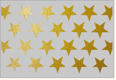 Umschlagk. Sterne Gold grau