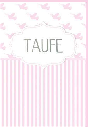 Umschlagk. Taufe Mädchen rosa
