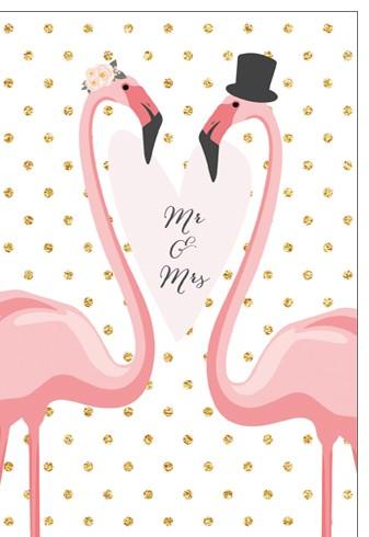 Umschlagk. pc Mr. & Mrs. Flamingos