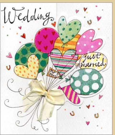 Umschlagk. Wedding Ballons