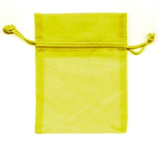 Organza Bag gelb 12x9
