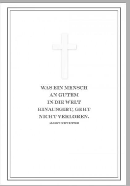 Umschlagk. Trauer Albert Schweitzer