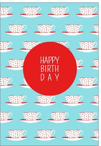 Umschlagk. Happy Birthday Tassen