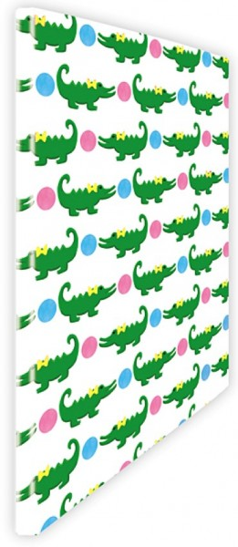 Schnellhefter Krokodil pink-blau
