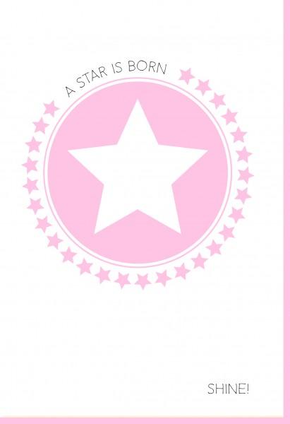 Umschlag. A star is born - Shine rosa