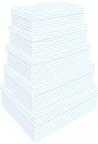 Rechteck Blue Stripes 5tlg. groß
