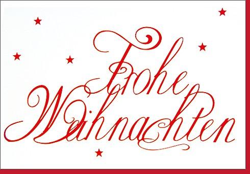 Umschlagk. Weihnachten Script Rot