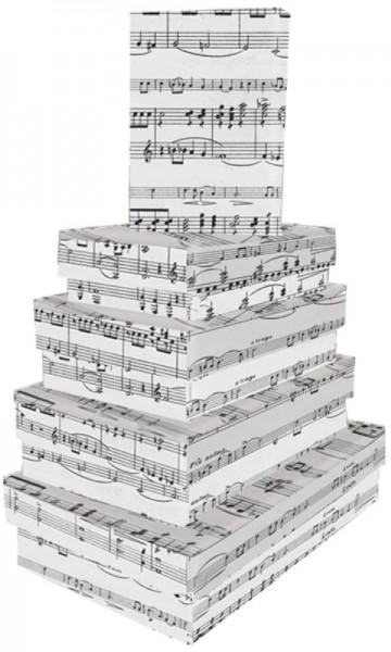 Kart. Recht. Music Sheet Grey 5 tlg.