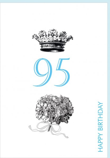 Umschlagk. Happy Birthday Krone 95