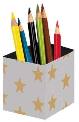 Stifteköcher Grey Gold Stars