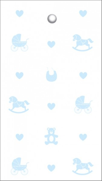Tags Baby Icons hellblau