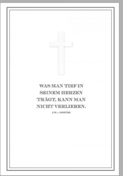 Umschlagk.Trauer Goethe