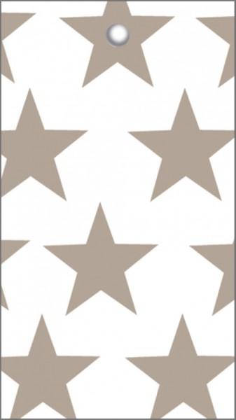 Tags Sterne weiß beige