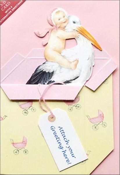 Umschlagk. Storchenbaby rosa