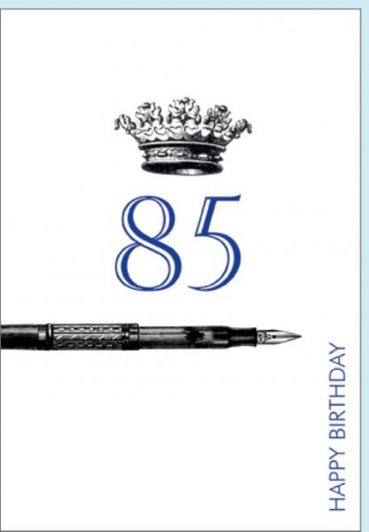 Umschlagk. Happy Birthday Krone 85
