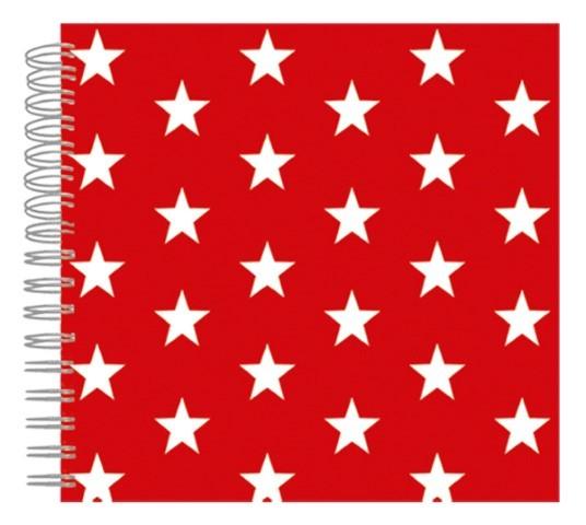 Fotoalbum 24x24 Red Stars
