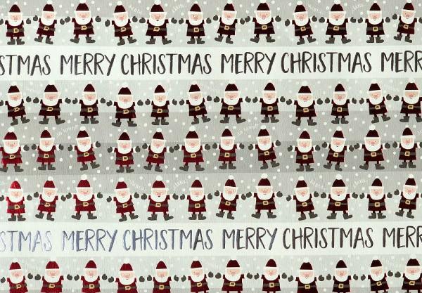 Geschenkpapier Kleine Weihnachtsmänner