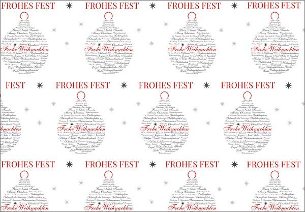 Frohes Fest Kugel 50x70