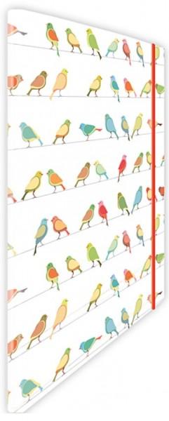 Eckspannmappe Birdy-Vogelparade