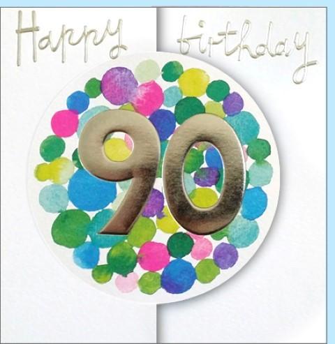 Umschlagk. Happy Birthday 90