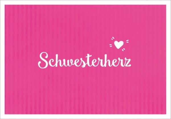 Postk. LQ Schwesterherz