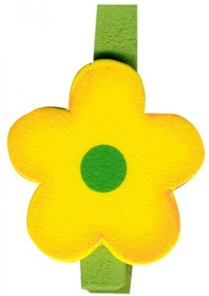 Klammer Blüte gelb 4,5cm 8x6 Stück