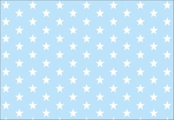 Lightblue Stars 50x70