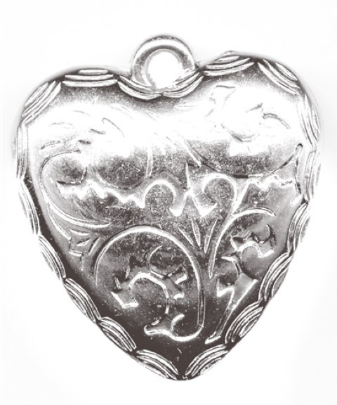 Anhänger Herz Ornament 24 Stück