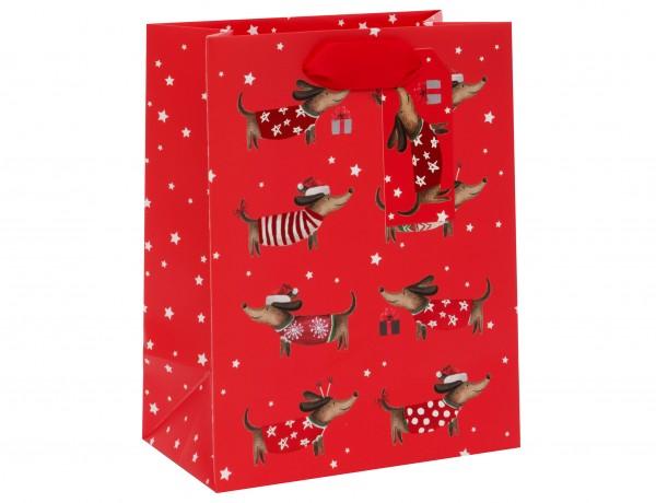 Weihnachts-Dackel Bag medium