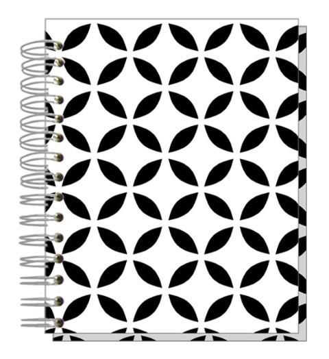 Buch A5 Black white Ornaments