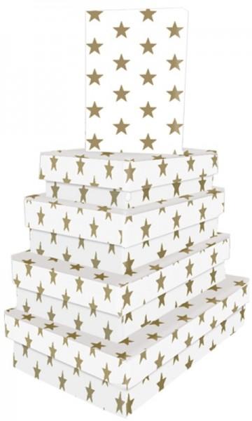 Kart. Recht. Golden Stars 5 tlg.