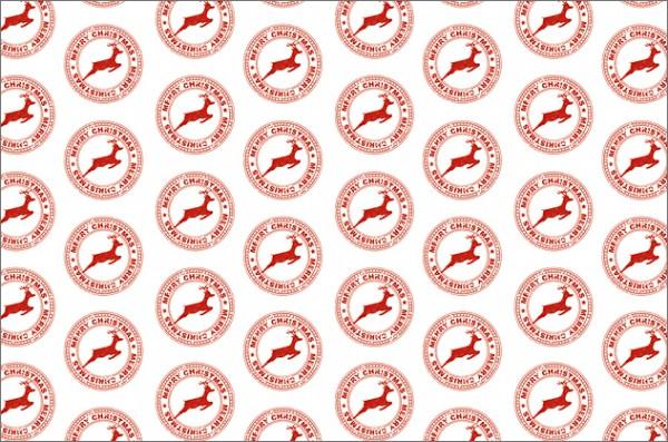 Rentierstempel rot 50x70