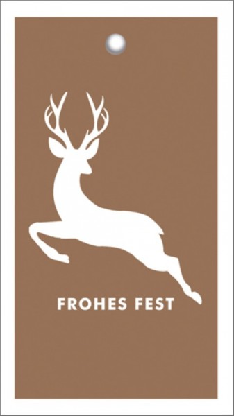 Tags Frohes Fest Hirsch Kupfer