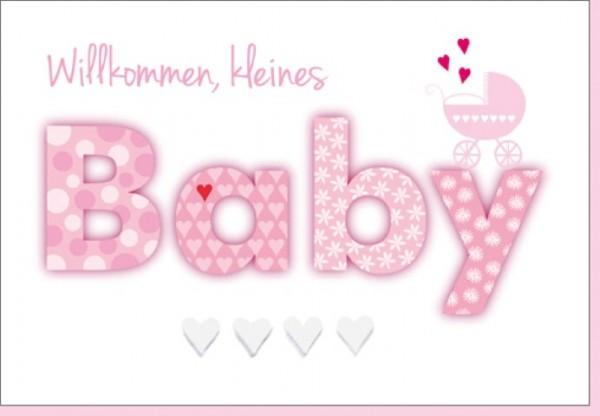 Umschlagk. Willkommen Baby rosa