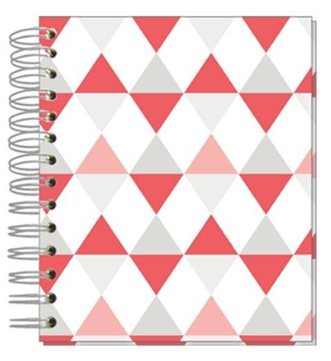 Buch 12x15 Dreiecke Pastell