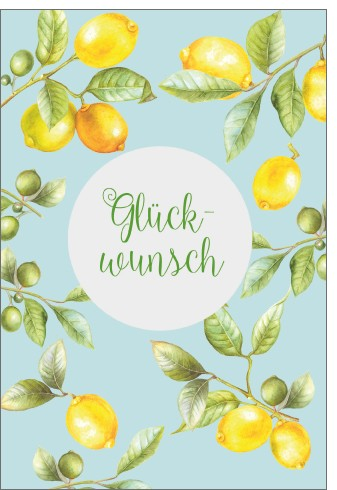 Umschlagk. LR Glückwunsch Lemontree