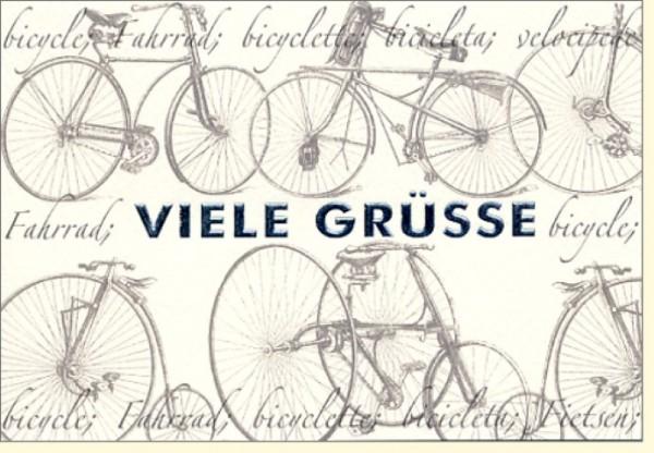 Umschlagk. Fahrrad Viele Grüsse