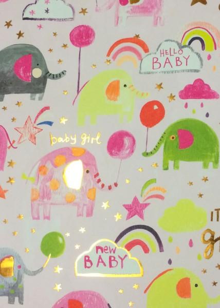 Geschenkp. Baby Elefanten rosa