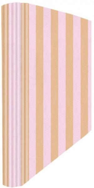 Ringmappe A4 Shabby Streifen rosa