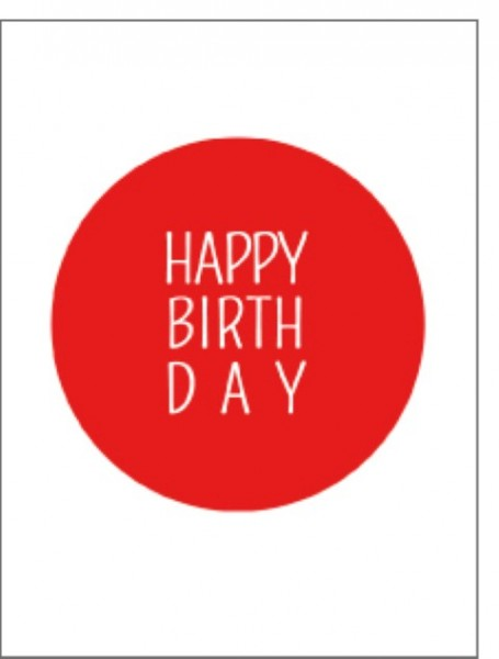 Minik. Happy Birthday roter Kreis