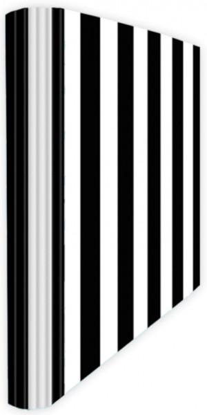 Ringmappe A4 Streifen schwarz